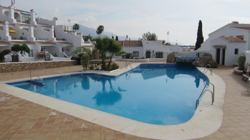One of the communal pools at El Capistrano over looking the sea