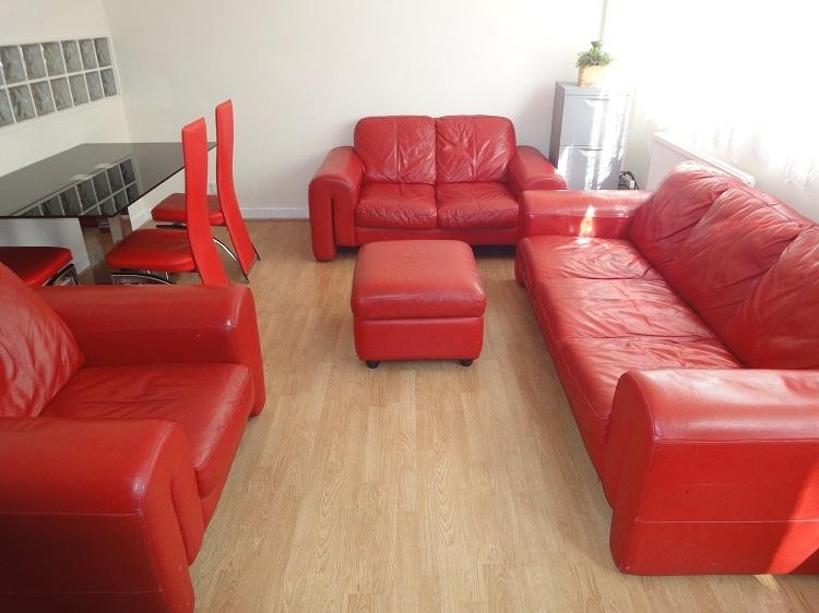 Lounge dinner, 8 seat leather sofa,dinning table, chairs,HP computer with HP color laser printer