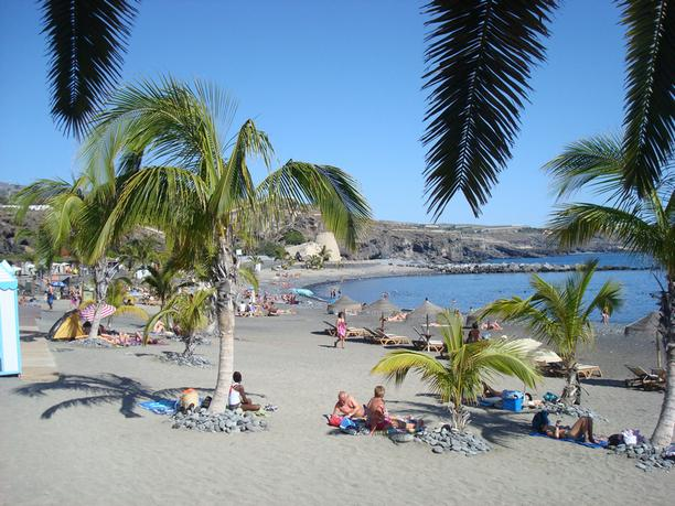 This is the beach of Playa San Juan - just 15 metres from the apartment!
