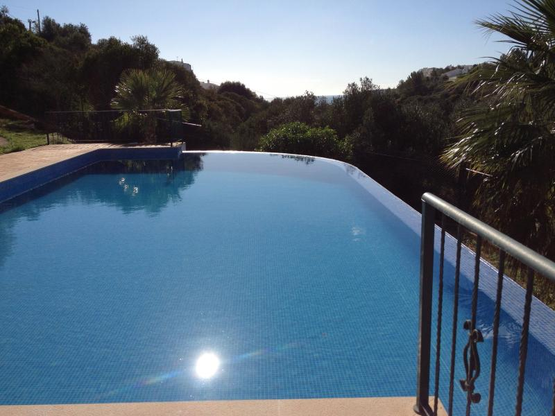 Large Infinity Pool, full size with sunbathing to 3 sides