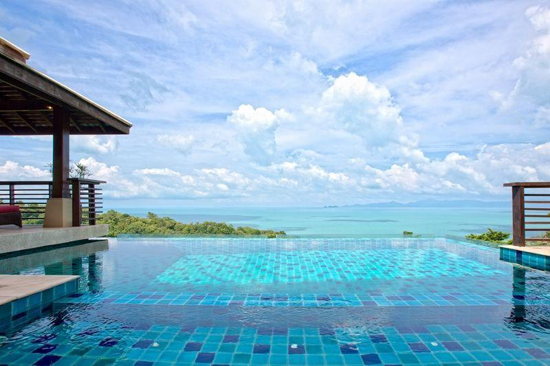 Your private infinity pool and views across the Gulf of Thailand