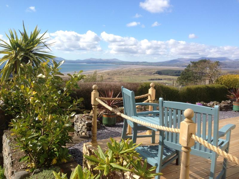Sit on the decking and enjoy the view.  Your Holiday begins!