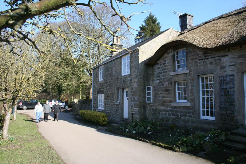 Front of house and lane leading to Chatsworth