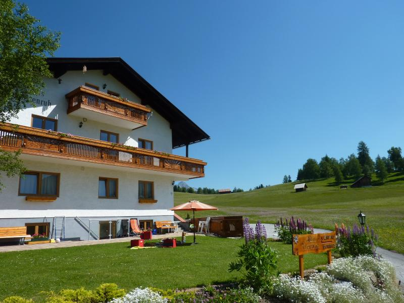 Private setting in the meadows overlooking the local alps
