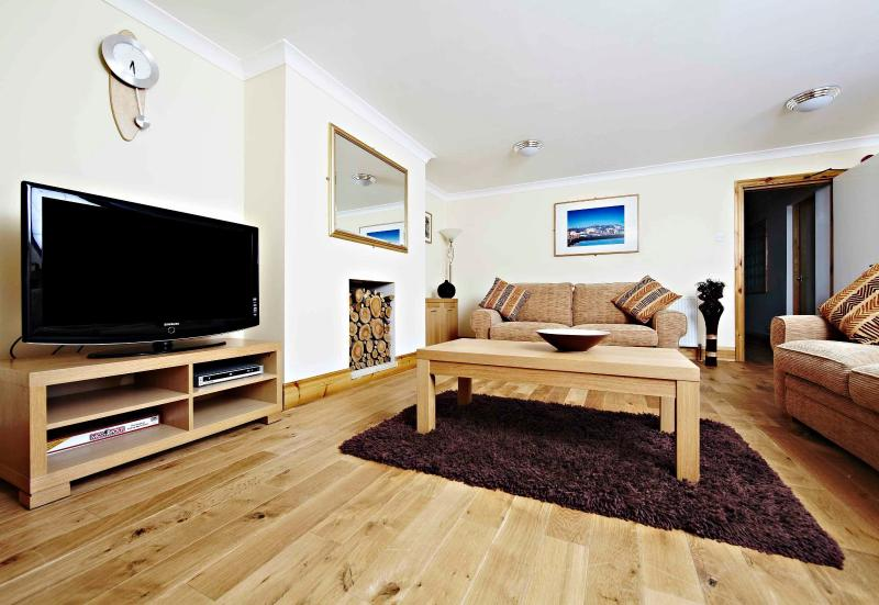 tastefully decorated living spaces, lcd televisions, ipod docks and free wifi