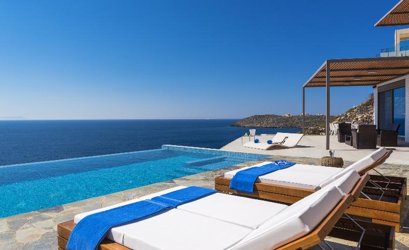 Luxury seafront villa near Chania in Crete, Greece. Private pool and sea access.