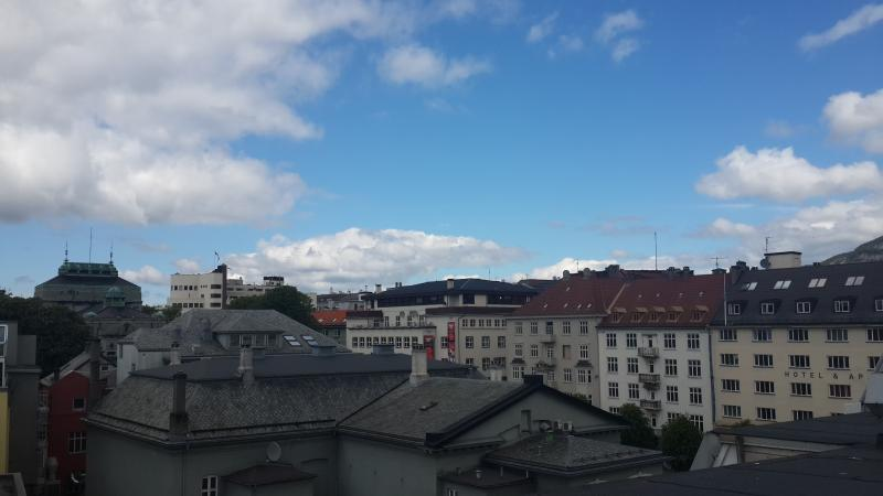 View from the rooftop terrace