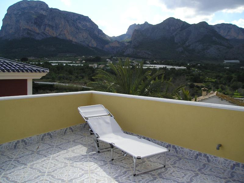 The roof top terrace for BBQ's, sunbathing and stunning views.