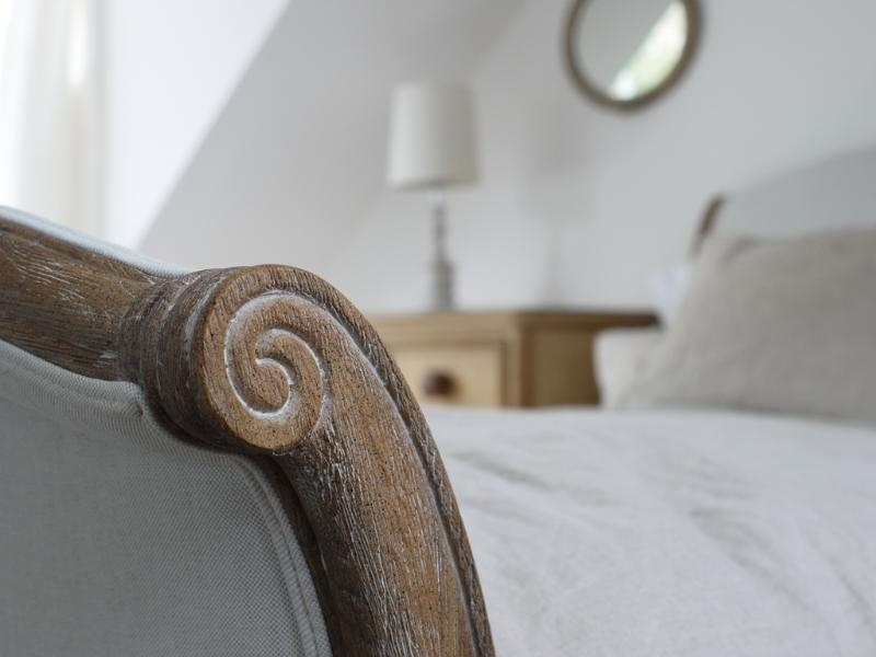 Sumptuous goose down duvets and pure linen, antiques mixed with modern luxury.