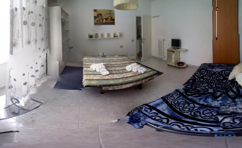 bedroom wide angle view