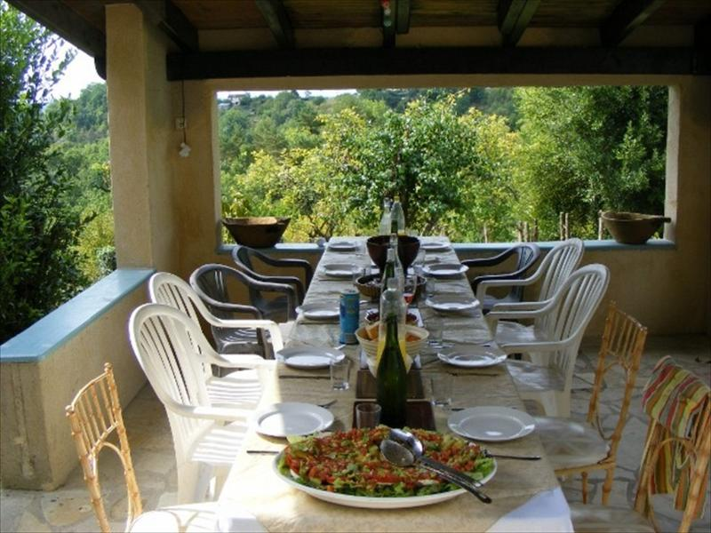Outside dining on the terrace