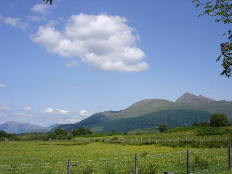 View of Glen Etive and Ben Cruachan from Airdeny Chalets