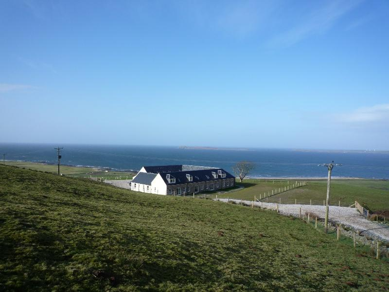 peaceful farmland location overlooking the ocean, stunning south-westerly views