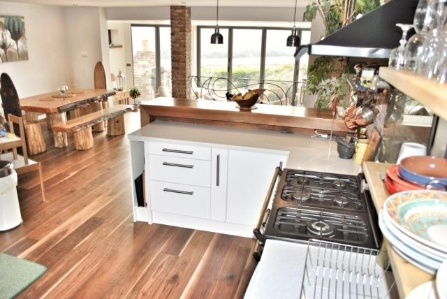 Open plan living with fantastic views