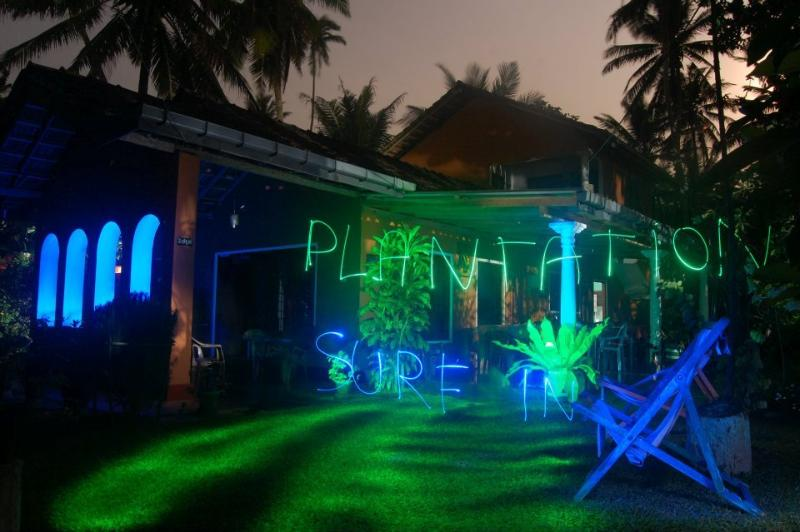 light painting with plantation guest house