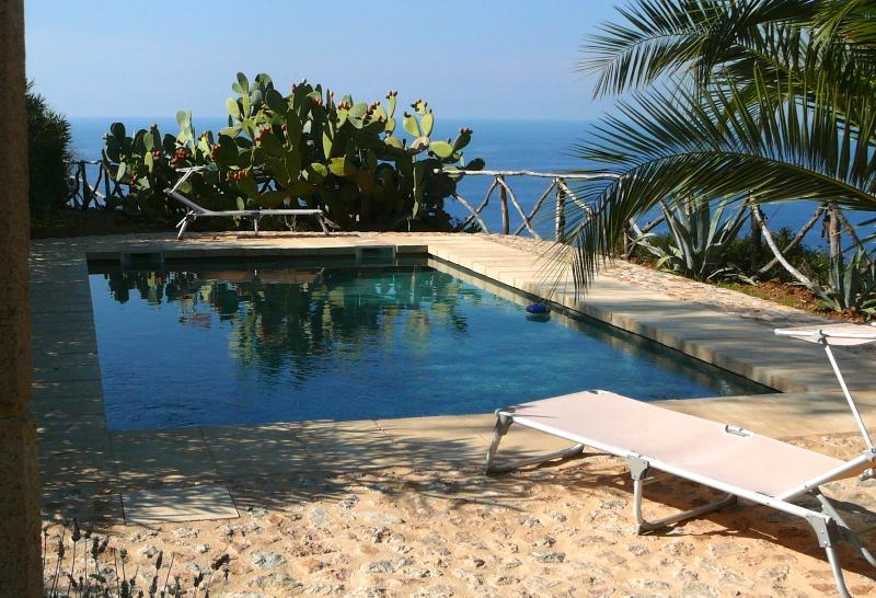 The pool - with sea views