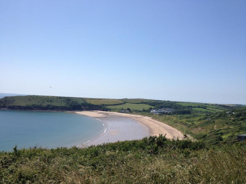 The unspoilt beach of Freshwater East  -  a 5 minute walk