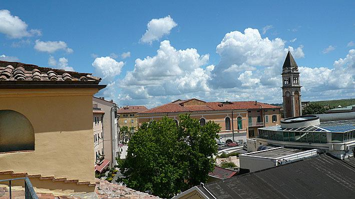 main square view from the the roof solarium