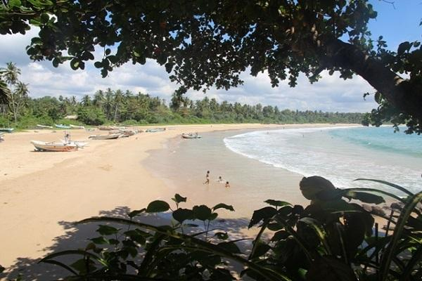 Talalla bay, one of the most stunning beaches in Southern Sri Lanka.  View from the house
