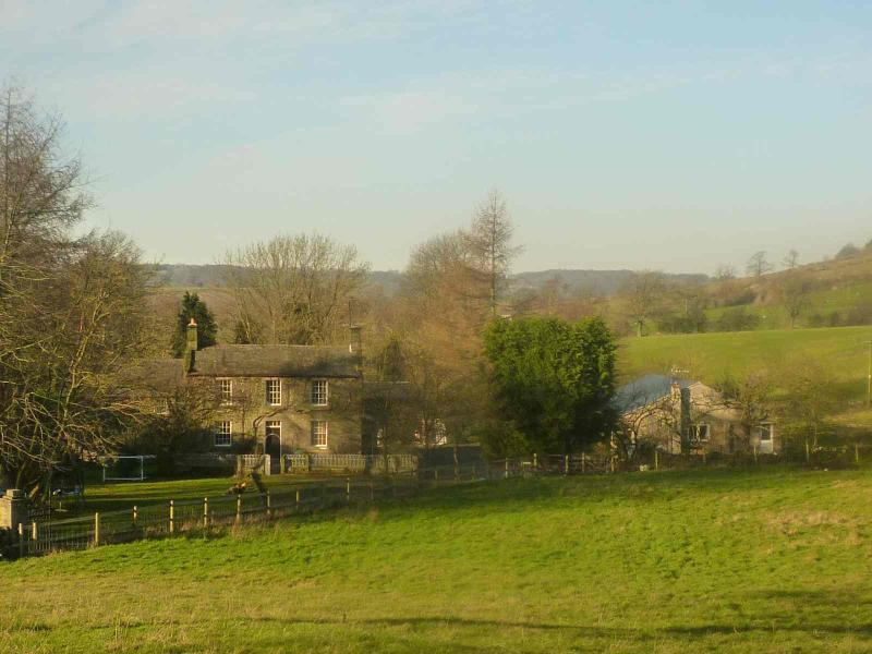 View of small holding with Long Dale cottages located to the right of the farmhouse