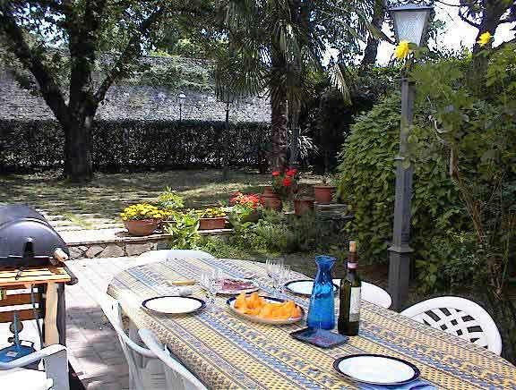 Patio and garden for your own private use