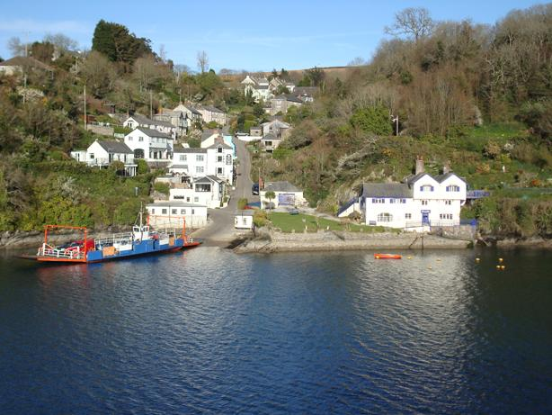 View from Fowey River Views. Watch life on the river from the lounge, overlooking Bodinnick village.