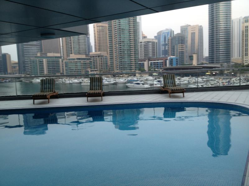 great views of marina from the pool
