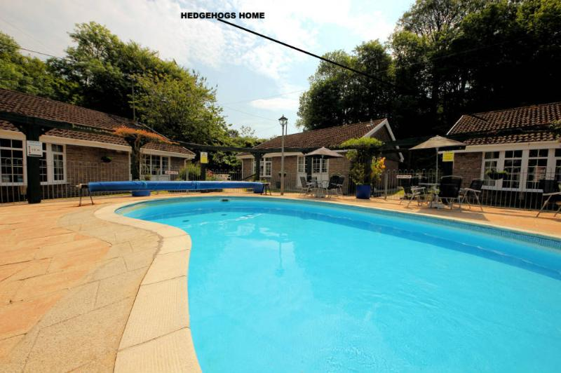 Hedgehogs Home is located overlooking the shared heated swimming pool