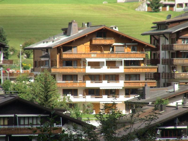 Chalet Arve (south side) Large balconies extend across the entire facade of the property