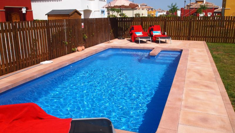 Pool & lawned garden fully fenced-in ideal for families with kids
