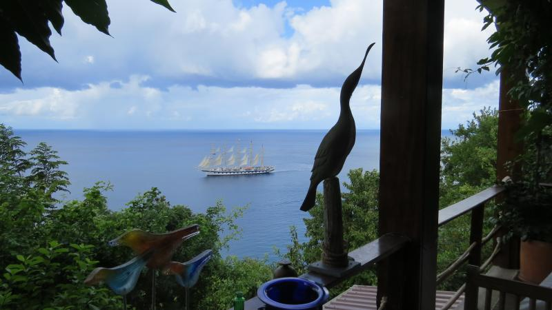 View of passing ships from the Treehouse