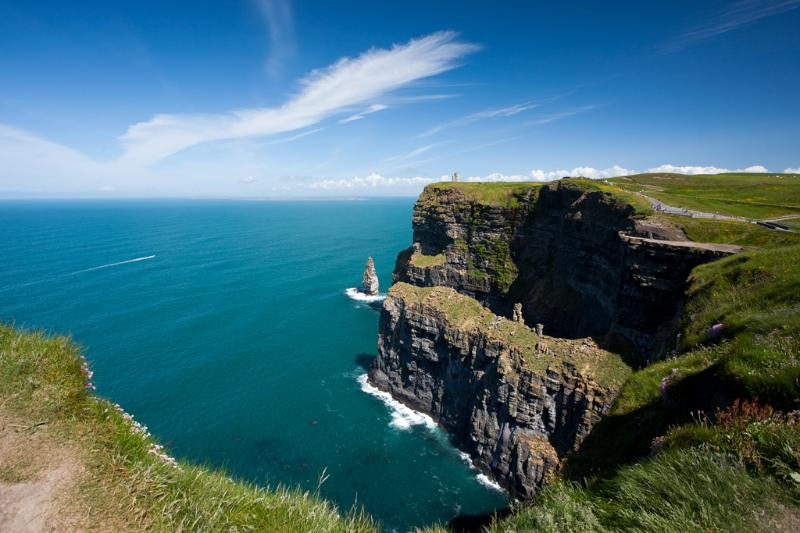 The Cliffs of Moher are one of the most popular tourist attractions in the country.