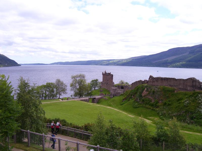 Local View of Urquhart Castle looking North up Loch Ness.