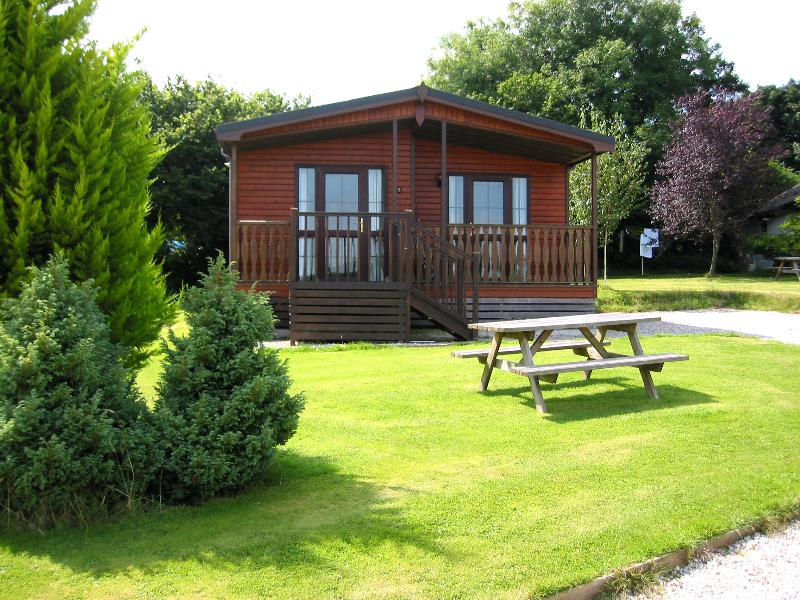 We have 3 peacefully sited 3 bedroom lodges overlooking our beautiful valley