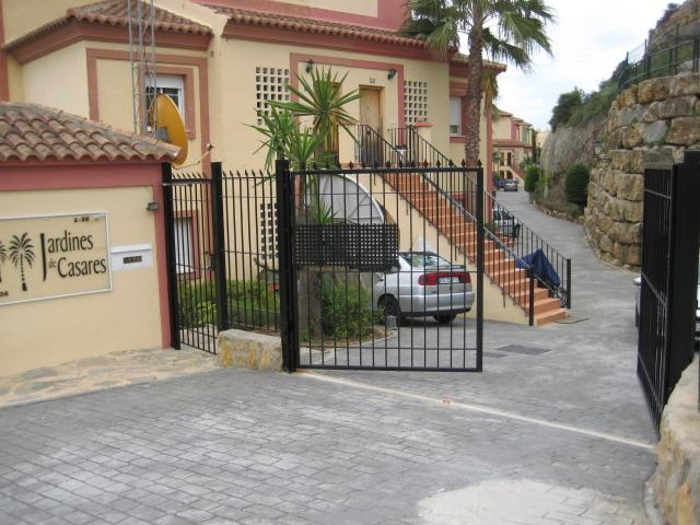 Gateway to the Apartments with parking near the steps to the apartment