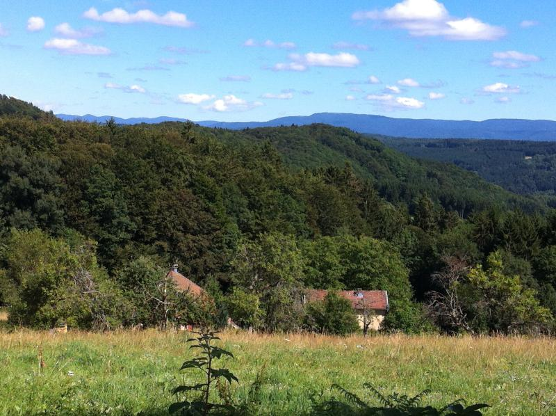 La Breuchotte and the view of the Ballons d'Alsace