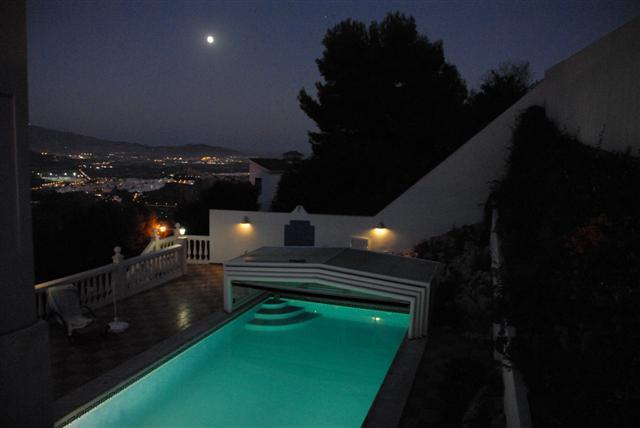 Private pool and terraces, spectacular views.