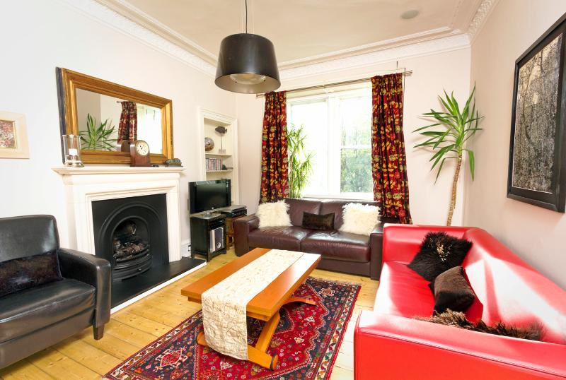 Sitting Room/Lounge - with view onto Holyrood Park and Arthur's Seat