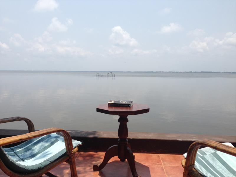 View on the lagoon from your own private terrace