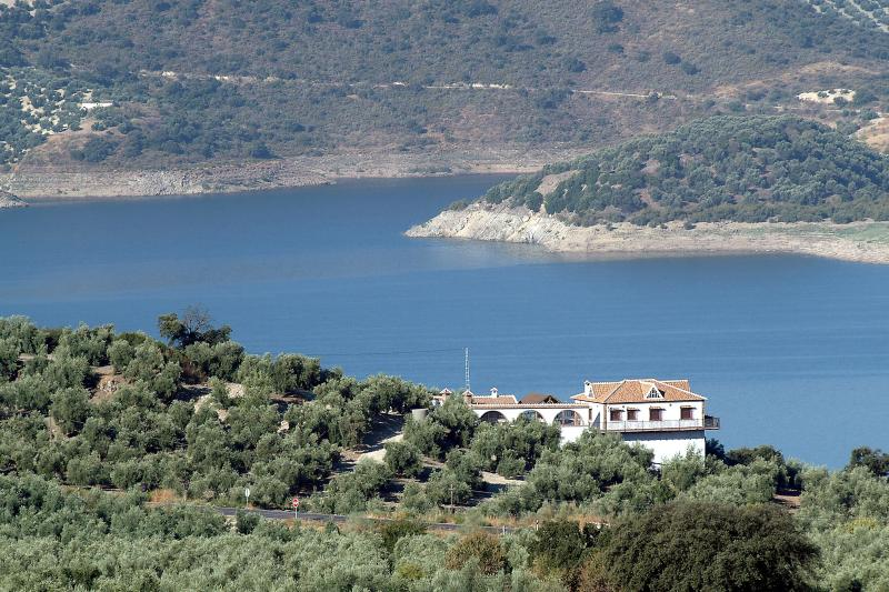 Views of the House and the lake of Iznájar