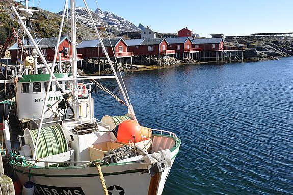 Tind harbour with the cabin in the background