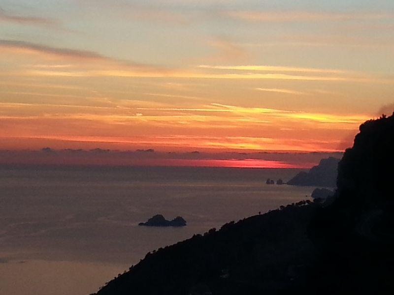 Sunset on the Island of Capri