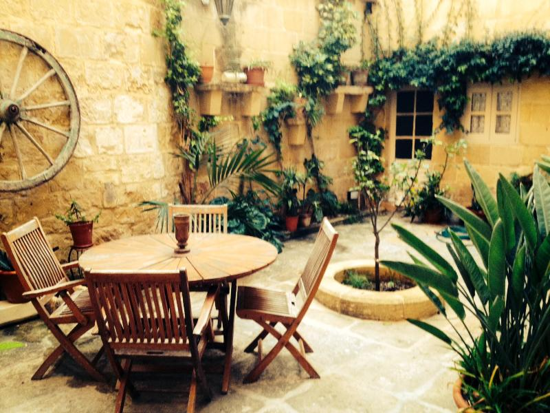central courtyard typical of the old Mediterranean  houses surrounded by the house full privacy