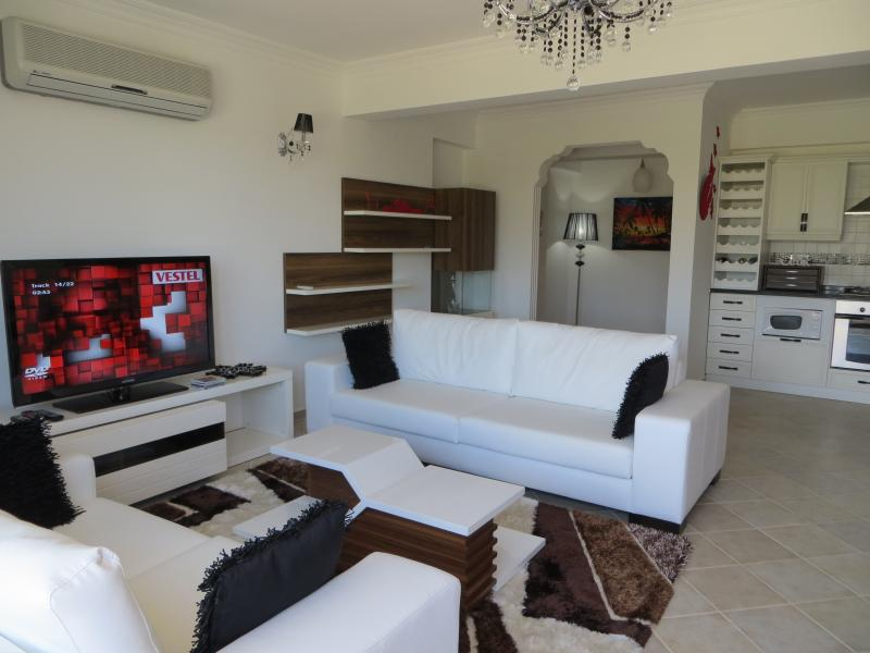 Relaxing Lounge Area with TV & DVD Player.
