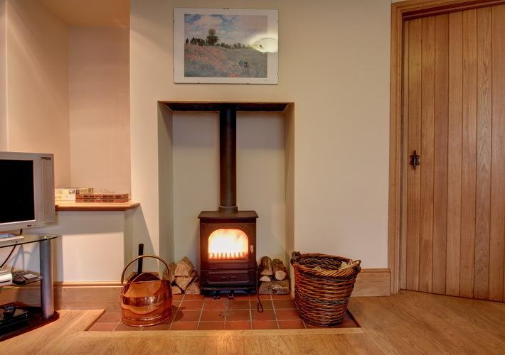 Wood burning stove - perfect for those chilly evenings