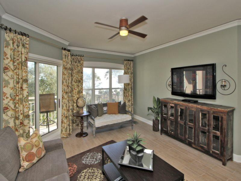Living Room with Deck Access at 6403 Hampton Place