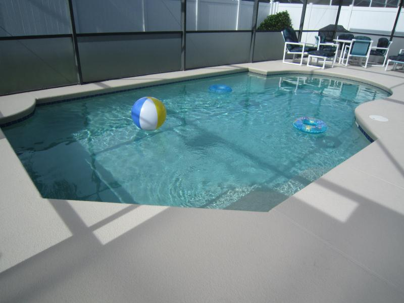 Sparkling South Facing Private Pool with extended deck area