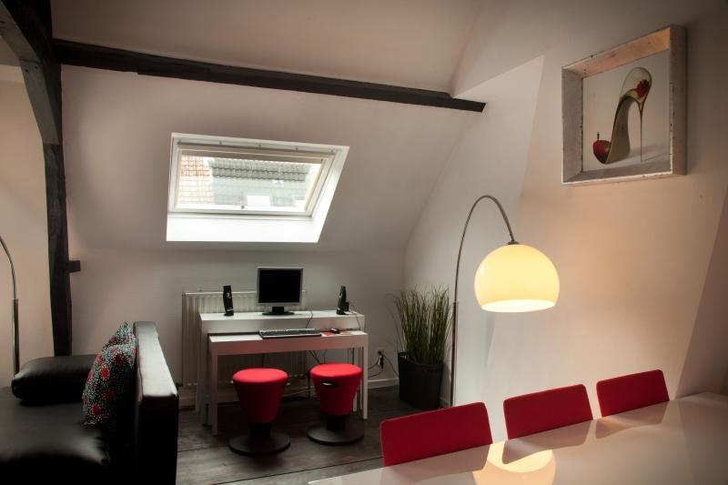 DUPLEX dining and office area