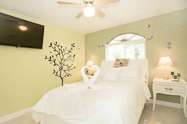 Your beautiful Florida bedroom with comfortable mattress and pillows