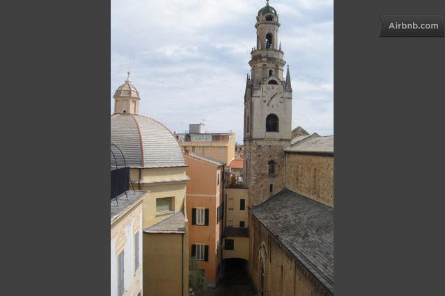 A view from the bedroom: the Cathedral clocktower